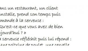 On mange quoi au restaurant ?