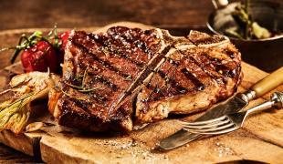 Recette Côte de bœuf marinée aux oignons dorés | 750g
