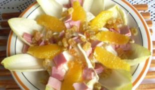 5 salade d'endives bien meilleures avec des fruits frais ou secs
