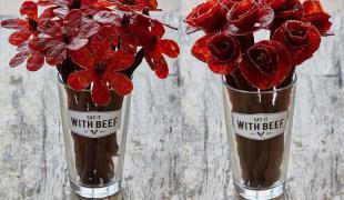 Saint-Valentin : dites-le avec des fleurs en bœuf séché