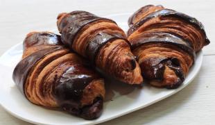 Croissants bicolores au chocolat
