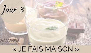 """Challenge """"Je fais maison"""" Jour 3 : une crème dessert"""