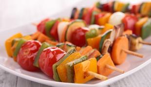 5 brochettes de légumes tip top