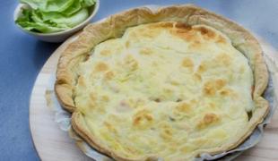 Carré Frais (300g), une tarte soufflée au saumon fumé à couper le souffle !