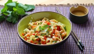 On ne se lasse pas des salades de crevettes surtout en 5 versions