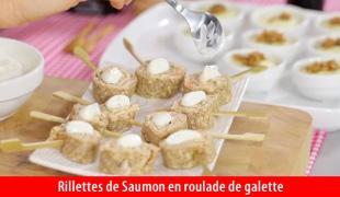 Rillettes de saumon en roulade de galette - Saupiquet