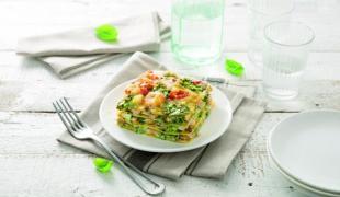 Osez notre recette de lasagnes aux crevettes et pesto