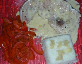 steak de requin ou de veau de mer sauce gingembre