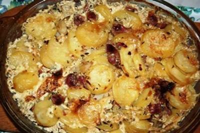 Recette gratin de pommes de terre aux g siers confits 750g - Recette de pomme de terre en gratin ...