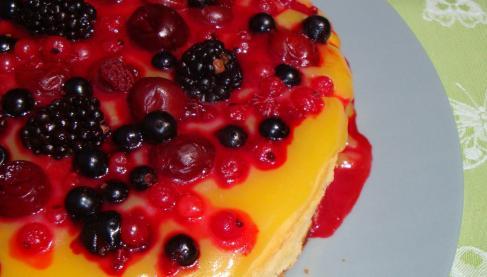 recette cheesecake ricotta fruits rouges au lemon curd 750g