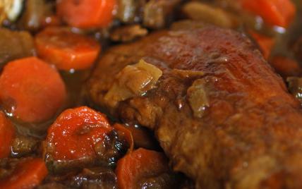 Recette mijot de filet mignon aux pruneaux et l gumes confits 750g - Cuisson filet de boeuf au four chaleur tournante ...