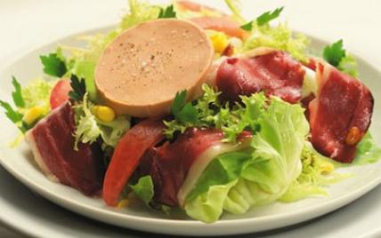 recette salade gourmande au foie gras 750g. Black Bedroom Furniture Sets. Home Design Ideas