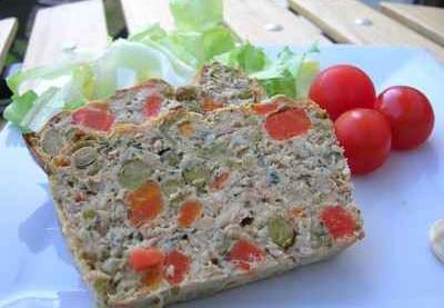 recette terrine de thon aux l gumes 750g. Black Bedroom Furniture Sets. Home Design Ideas