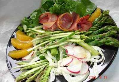 recette salade vari e aux asperges l 39 orange recette light 750g. Black Bedroom Furniture Sets. Home Design Ideas