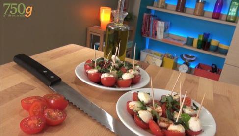 Tomates mozzarella express ou comment couper des tomates - Comment couper le basilic ...