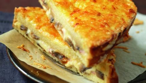 Recette croque monsieur champ tre au fromage r p sublime filante giovanni ferrari 750g - Recette croque monsieur au four original ...