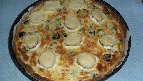 Recette tarte l g re aux courgettes jambon et ch vre for Entree legere hiver