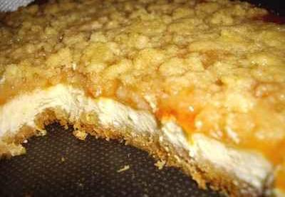 Recette - Cheesecake abricot façon crumble - Notée 4.4/5