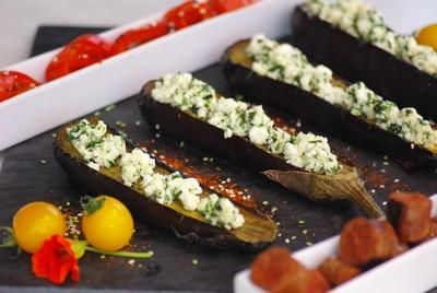 recette aubergines grill es la f ta et aux herbes 750g. Black Bedroom Furniture Sets. Home Design Ideas