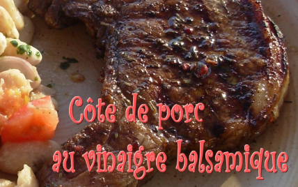 recette c te de porc au vinaigre balsamique et aux pices not e 4 3 5. Black Bedroom Furniture Sets. Home Design Ideas