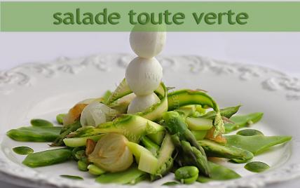 Recette salade toute verte et sauce verte not e 4 2 5 - Salade verte calorie ...