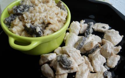 recette risotto aux morilles fra ches et minc de dinde sauce morilles not e 4 3 5. Black Bedroom Furniture Sets. Home Design Ideas