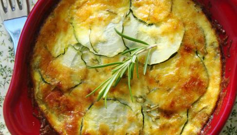 recette clafoutis aux courgettes romarin et fromage de brebis 750g. Black Bedroom Furniture Sets. Home Design Ideas