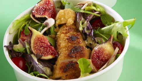 Recette salade croustillante au poulet figue et sauce for Marinade poulet huile d olive
