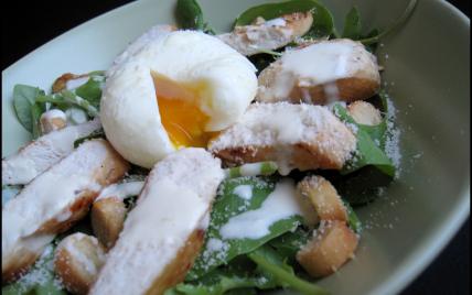 recette salade c sar au poulet not e 4 5. Black Bedroom Furniture Sets. Home Design Ideas