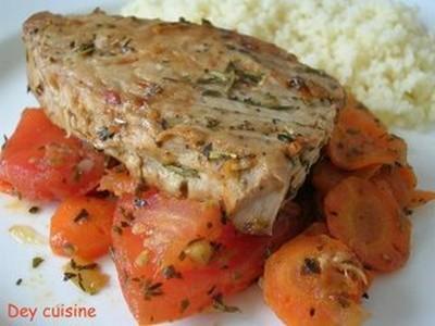 Recette Thon Rouge Mijoté Aux Tomates Carottes G - Cuisiner du thon rouge