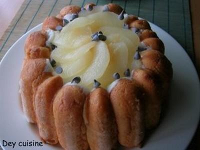 recette - charlotte aux poires savoureuse | 750g