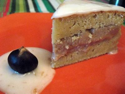 recette - gâteau à la compote de pomme fourré au marron | 750g