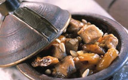 Recette - Tagine de porc aux fruits secs   750g