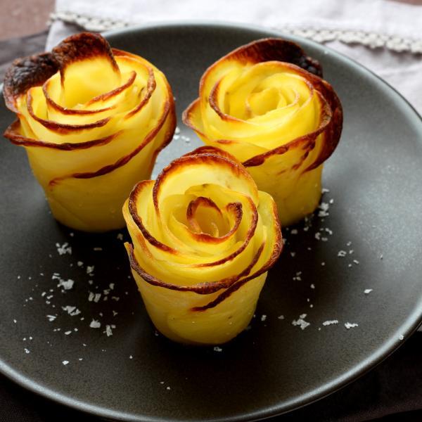 Recette Pommes De Terre En Forme De Roses En Pas A Pas