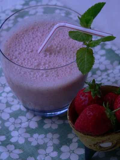 smoothie fraise kiwi menthe