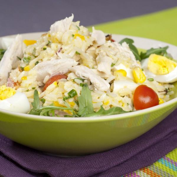Delightful Recette De Salade De Riz #10: Recette - Salade De Riz Au Maïs Et Poulet | Notée 4.2/5