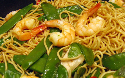 Recette Wok De Nouilles Chinoises Aux Crevettes Et Aux Legumes 750g