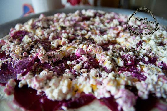 Recette Pizza à Loignon Betterave Fromage Cottage Et Fines - Cuisiner la betterave