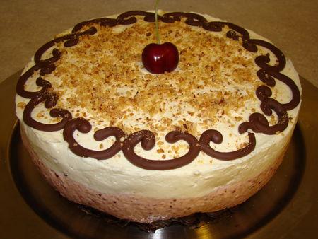 Recette Bavarois Cerise Et Chocolat Blanc Sur Roses Des Sables 750g
