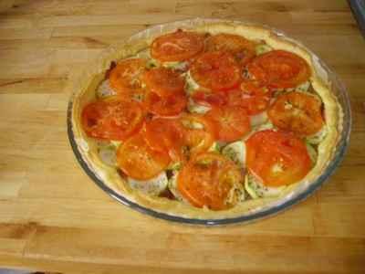 Recette Tarte Au Chevre Tomates Et Courgettes 750g