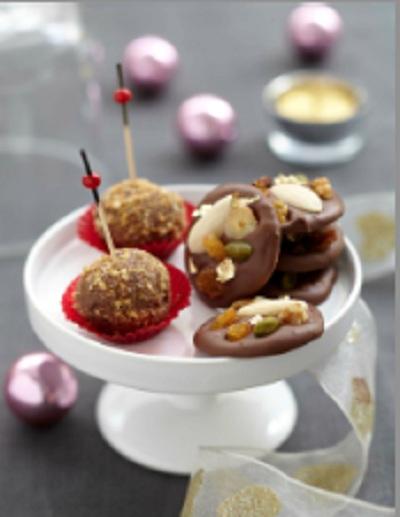 boule praline chocolat noël