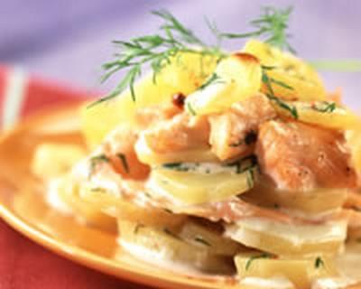 Recette Lasagnes De Pommes De Terre Aux Deux Saumons 750g