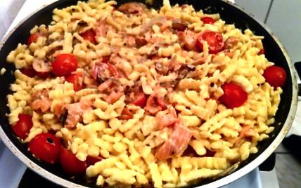 Recette Pates Au Saumon Et Ses Petites Tomates Cerises 750g