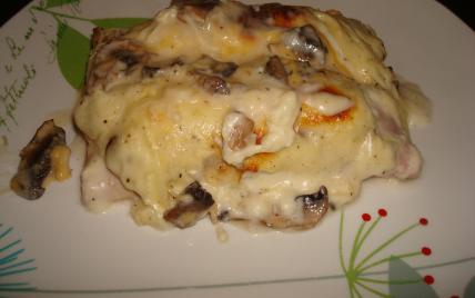 Lasagne Idee Recette.Lasagnes Au Poulet Et Champignons
