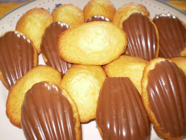 Madeleines avec chocolat