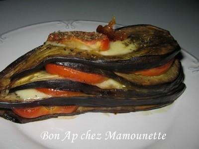 Recette Aubergine En Millefeuille A La Mozzarella Aux Tomates Et A