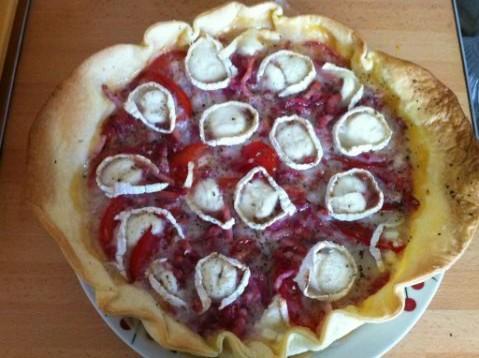 Recette Tarte Tomate Lardons Et Chevre 750g