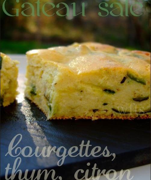 recette - gâteau courgettes thym citron | 750g