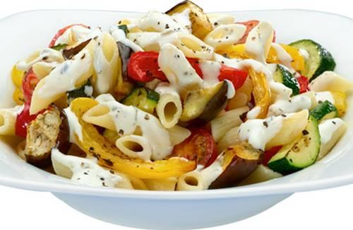 Idee Repas Avec Pates.Pâtes Aux Légumes Grillés