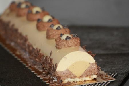 Recette buche noel chocolat caramel beurre sale
